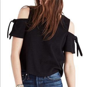 madewell skylark cold shoulder tee